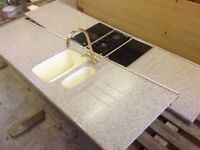 Neff integrated hob granite worktop integrated sink