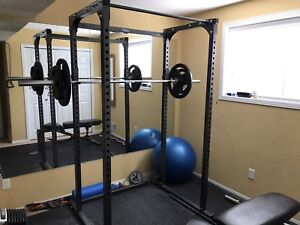 Northern lights squat rack and weights