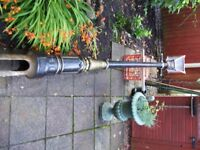old cast iron victorian steet lamp with copper top stands 4.3 mts high