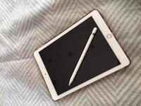 iPad Pro rose gold, 32gb with Apple Pencil