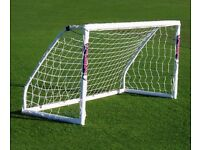 Two Samba 8' x 4' goals with nets and bags.
