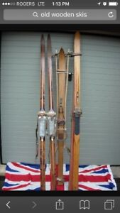 Looking for old wooden ski's