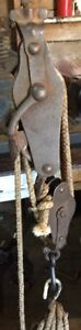 Antique locking Block and Tackle