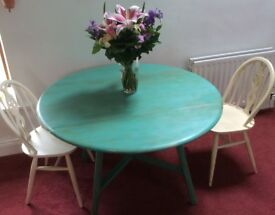 Hand-painted drop-leaf table. 'Shabby chic'. £60 ONO.