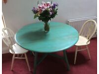Hand-painted drop-leaf table. 'Shabby chic'. £40 ONO.
