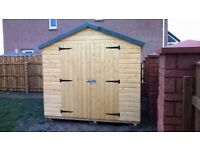 8ft x 8ft Standard Garden Shed with DOUBLE DOORS