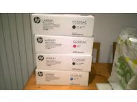 hp Lights.aserjet Cartridges-CC530AC x2, CC533AC x1, CC531AC x1