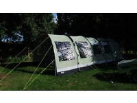 Outwell Bear Lake 4 Tent with porch extension. Zipped groundsheet and carpet, excellent condition.