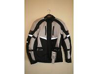 Buffalo Alpine Waterproof Motorcycle Jacket Black/Grey Touring 2XL NEW