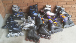 Many Adult and Kids Rollerblades(all sizes)
