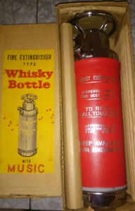 Fire Extinguisher Type Whiskey Bottle with Music