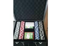 Poker set like new