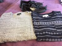 MENS TOPS FROM NEXT AND RIVER ISLAND SIZE SMALL - SHOES BY MONEY SIZE 10