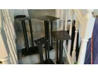 4 Black Speaker stands approx. 60 cm high.
