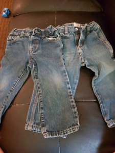 2  pairs of 24 month boys jeans