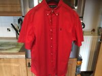 RALPH LAUREN blood red shirt classic fit size XL. Wardrobe find immaculate, just been washed.