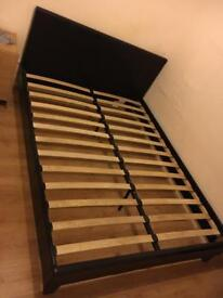 Faux Black Leather Bed Frame