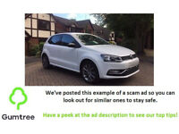 Volkswagen polo 1.0 bluemotion tech design 2015 -- Read the description before replying to the ad!!