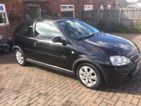 2005 black 3 door 1.2 Vauxhall Corsa 12 months mot