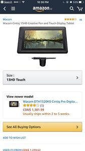 Wacom cintiq 13hd creative pen and touch display tablet