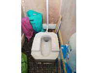 Indian/Asian Style Squat Low Level Floor Toilet WC Pan and cistern like new for only £15