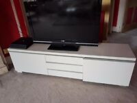 White IKEA TV Bench