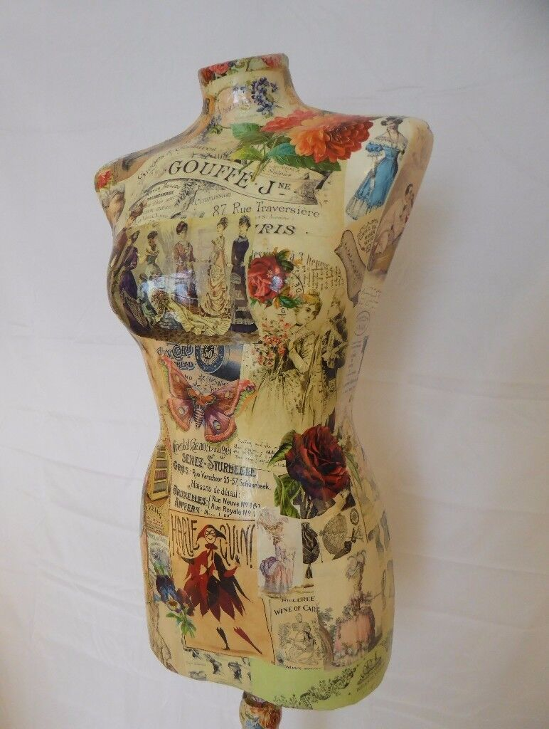 Hand-decorated Tailor's Mannequin