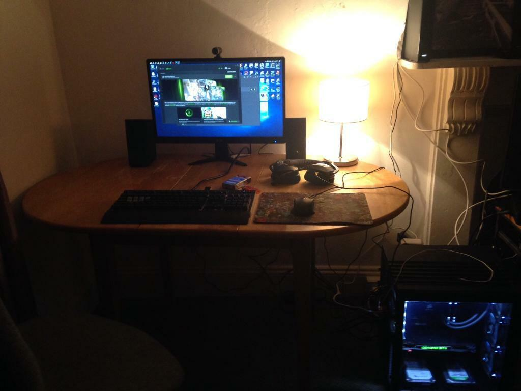Watercooled Custom Gaming Pc  Full Setup W   Bose Companion