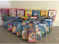 Great selection of Disnay VHS tapes!!!! With VHS player