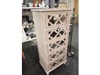 5 Drawer tall boy cabinet