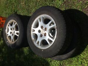 Tires with aluminum rims