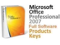Microsoft Office 2007 Full version with 5 users KEYS