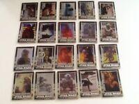 Star Wars metallic trading cards