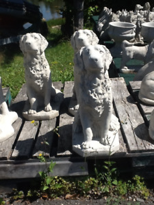 Newly casted Large  Golden Retiever Concrete statues