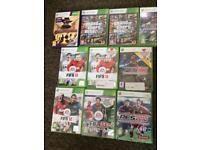 Assorted X Box 360 games