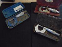 3 sets Micrometers