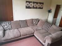 Left hand delux corner sofa bed