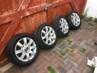 """Genuine Vw Volkswagen 16"""" Alloy Wheels & Tyres 5 x112"""