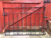 Drive way gates and matching single gate