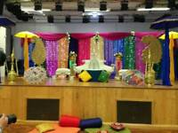 Mehndi Stages for Hire, Wedding Stages, Floral Stages, House Lighting & Chair Covers