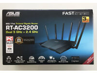 Brand New Asus RT-AC3200 Wireless Router for Broadband with 6 Antennas and Gigabit USB 3.0 Ports