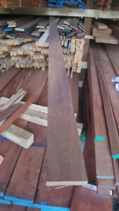 walnut strips planed 4 sides