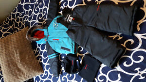 Boys size 2 winter gear! Snowsuit, Brand New Hat and Slippers