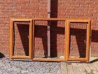 PVCu Window Frames - Light Oak