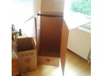 10 Garment Boxes and 25 Packing Boxes