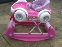 This is a 2 in 1 convertible walker/rocker,however sold only as a rocker as 1 wheel is broken
