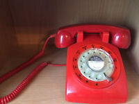 Retro Rotary Dial Phone - Red