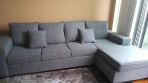 Condo size sofa with sofa bed- grey