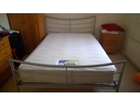 Double bed and Silent Night mattress