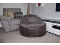 Large beanbag chair with bag of top-up beans (Dunhelm)